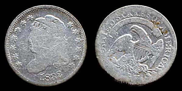 USA, 1/2 dime, 1832