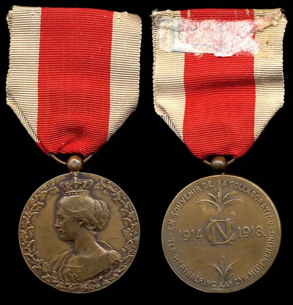 BELGIUM, National Committee for Aid & Food Medal, 4th Class, 1918