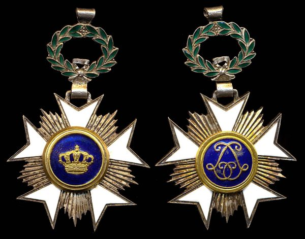 BELGIUM, Order of the Crown, Knight Badge, (1908)