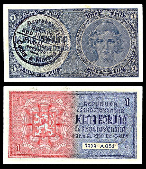 BOHEMIA & MORAVIA, 1 krone, (1939)