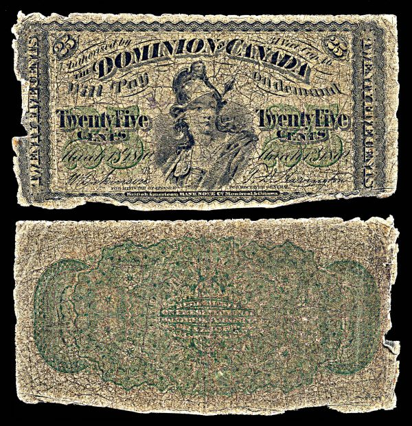 CANADA, 25 cents, 1.3.1870