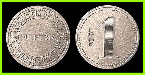 CHILE, token, (1890s-1920s)