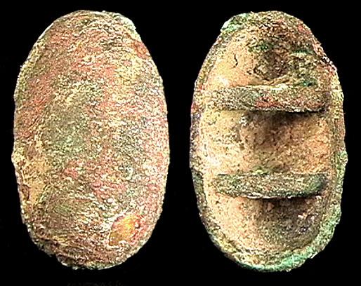 CHINA, ZHOU Dynasty, 1122-255 BC, gold plated bronze shield money