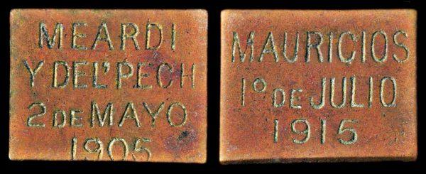 EL SALVADOR, copper token, 1915