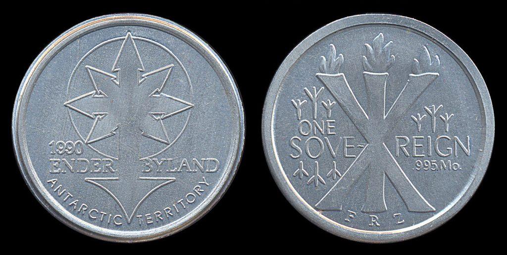Antarctica fantasy coin