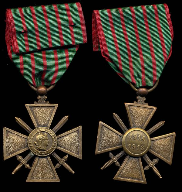 FRANCE, Croix de Guerre 1914-1918