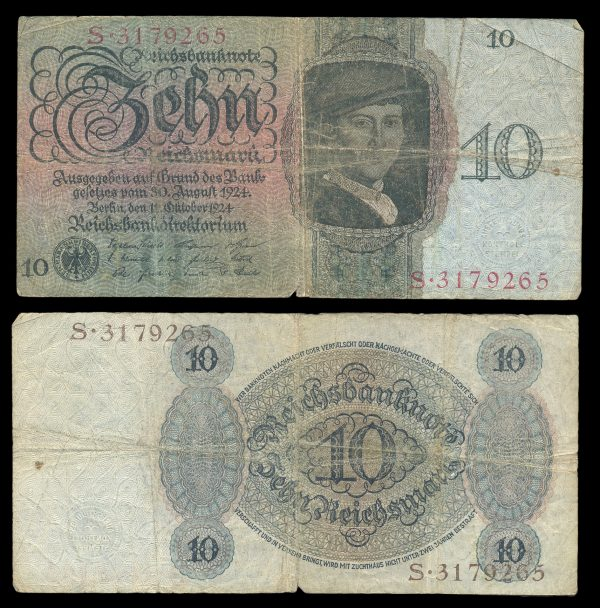 GERMANY, 10 mark, 11.10.1924