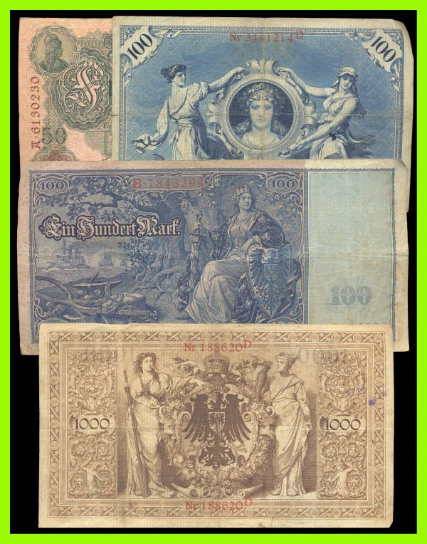 GERMANY, pre-World War I inflation lot: 1910