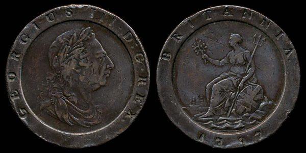 GREAT BRITAIN, 2 pence, 1797
