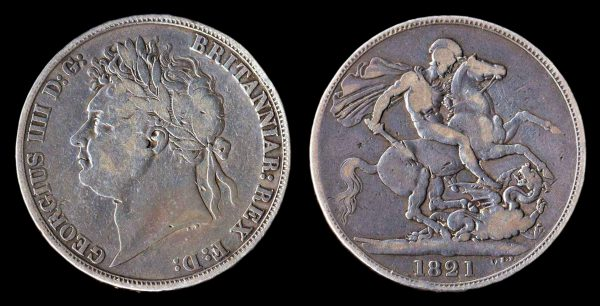 GREAT BRITAIN, 1 crown, 1821