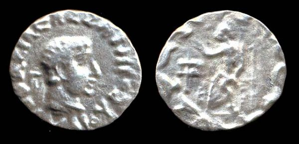 INDO-GREEK, Hermaios, c. 40-1 BC, drachm