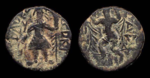 KUSHAN, Kanishka I, c. 130-150 AD, 1/4 unit