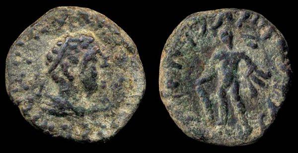 KUSHAN, Kujula Kadphises, c. 10-35 AD, tetradrachm