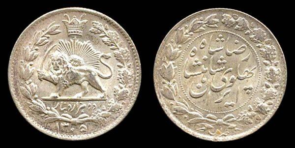 IRAN, 2000 dinar, 1305 SH (1926 AD)