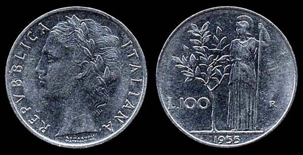 ITALY, 100 lire, 1955