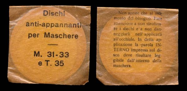 ITALY, WWII, gas mask filter packet, (1930s-40s)