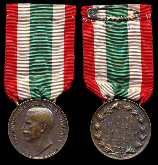 ITALY, Mothers and Widows Unification Medal 1918
