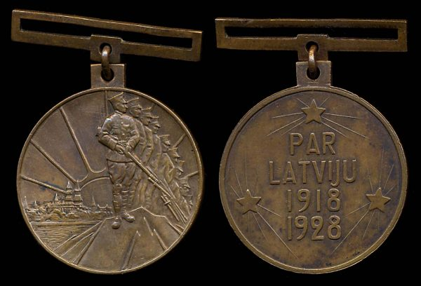 LATVIA, 10th Anniversary of Republic Medal , 1928