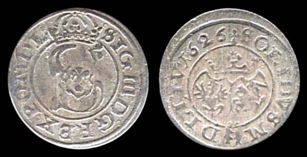 LITHUANIA, schilling, 1626