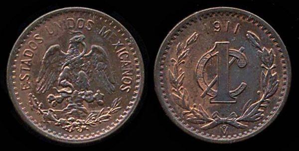 MEXICO, 1 centavo, 1911