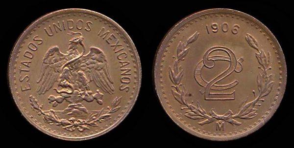 MEXICO, 2 centavos, 1906