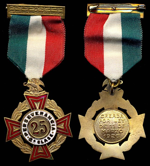MEXICO, Long Service Medal, 25 years, (1926+)