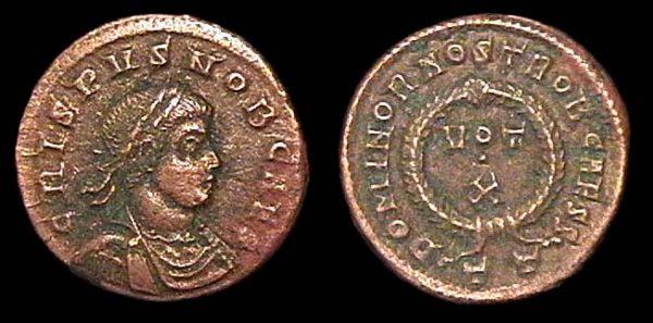 ROMAN EMPIRE, Crispus, 317-326 AD, centenionalis