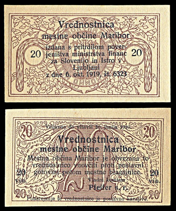 SLOVENIA, MARIBOR, 20 vinarev, 6.10.1919