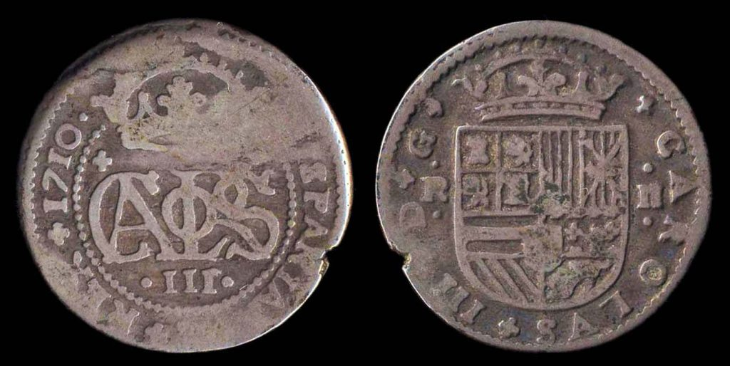 Spanish silver 1 real coin for pretender Carlos III