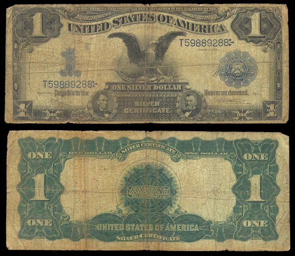 USA, Silver Certificate, 1 dollar, 1899