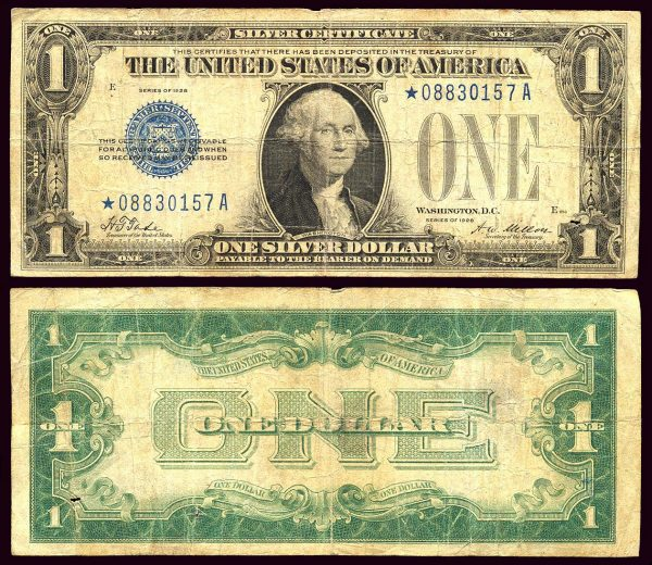 USA, Silver Certificate, 1 dollar, 1928-A