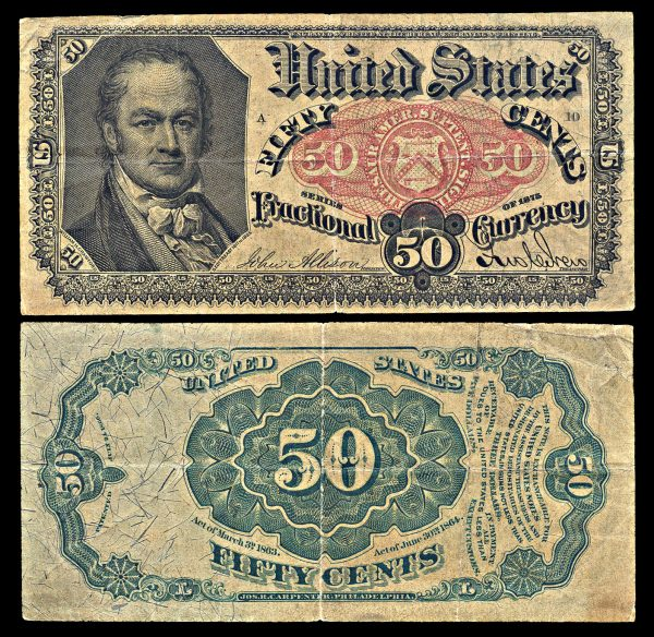 USA, Fractional Currency, 50 cents, 30.6.1864
