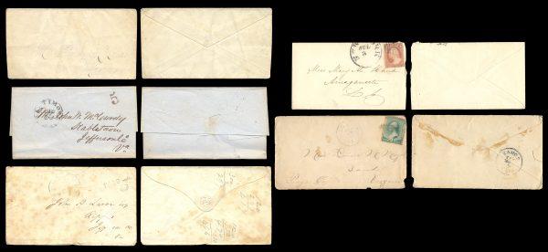 USA, 19th century postal covers lot