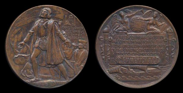 USA, ILLINOIS, medal, 1893, Columbian Exposition