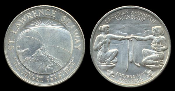 USA, so-called half dollar, ST. LAWRENCE SEAWAY, 1959, silver