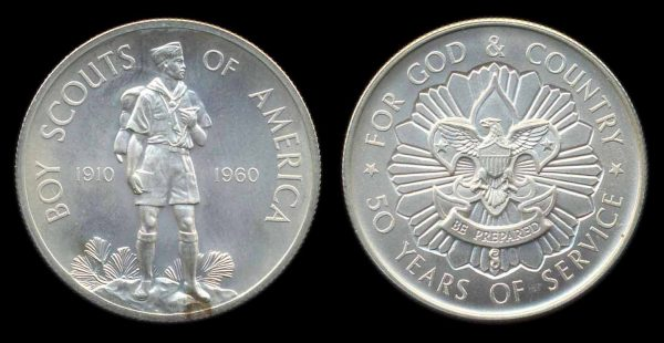 USA, so-called half dollar, Boy Scouts 1960, silver