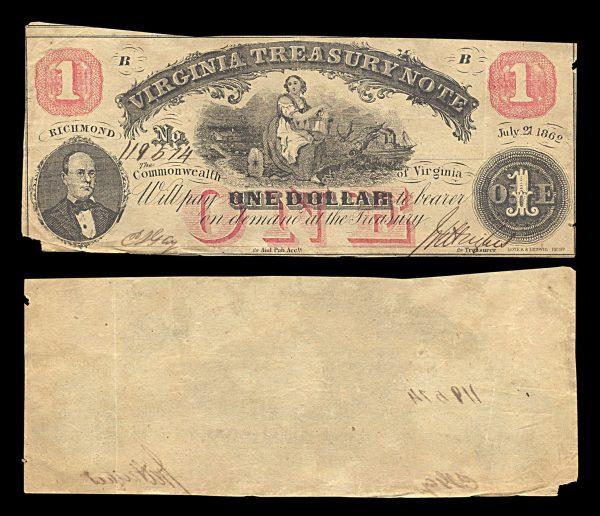 USA, VIRGINIA, 1 dollar, 21.7.1862