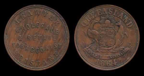 AUSTRALIA, token, 1864