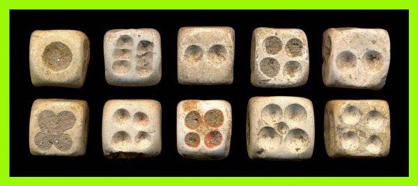 CHINA, medieval stone dice