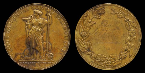 FRANCE, Temperance League medal, c. 1900