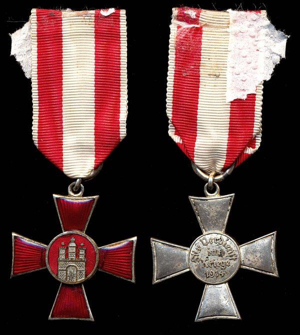 GERMANY, HAMBURG, War Service Medal, 1914