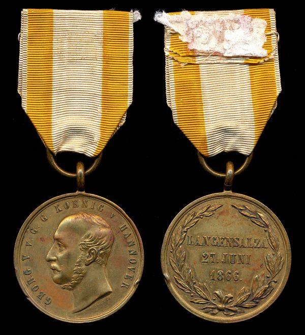 GERMANY, HANOVER, Battle of Langensalza Commemorative Medal, 1866