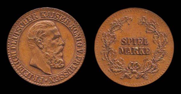GERMANY, Wilhelm I spiel mark, mid-late 19th century