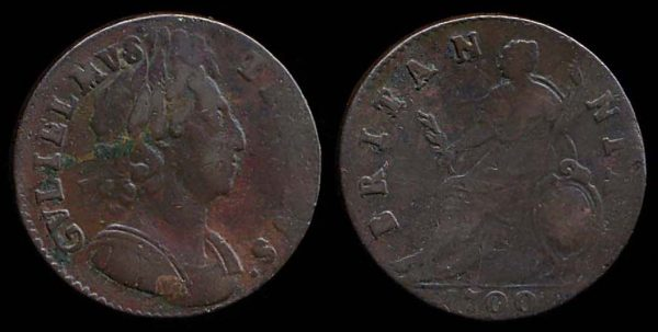 GREAT BRITAIN, halfpenny, 1700