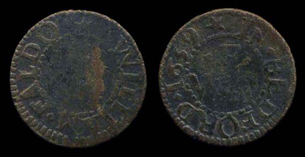GREAT BRITAIN, BEDFORD, farthing token, 1659