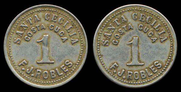 GUATEMALA, hacienda token, 1890s