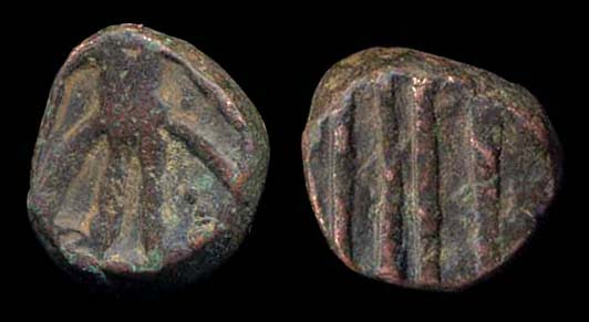 KIDARITE, Taxila anonymous series, 5-6th c. AD, unit