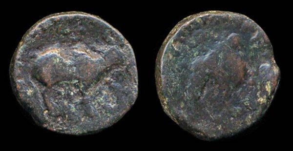KUSHAN, Kujula Kadphises, c. 10-35 AD, pentachalkon