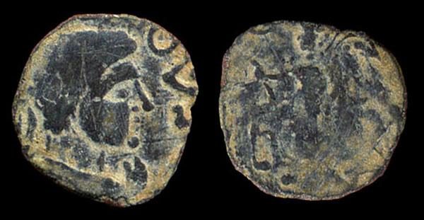 KUSHAN, Western Barbarians, c. 40-60 AD, dichalkon