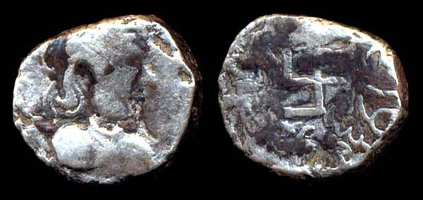 PARATA RAJAS, Spajhama, c. 10 BC?, drachm